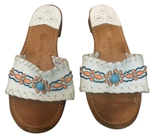 Jack Rogers Preppy White Sandals