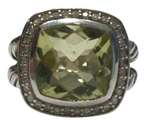 David Yurman David Yurman 11mm Sterling Silver Lemon Citrine Diamond Albion Ring