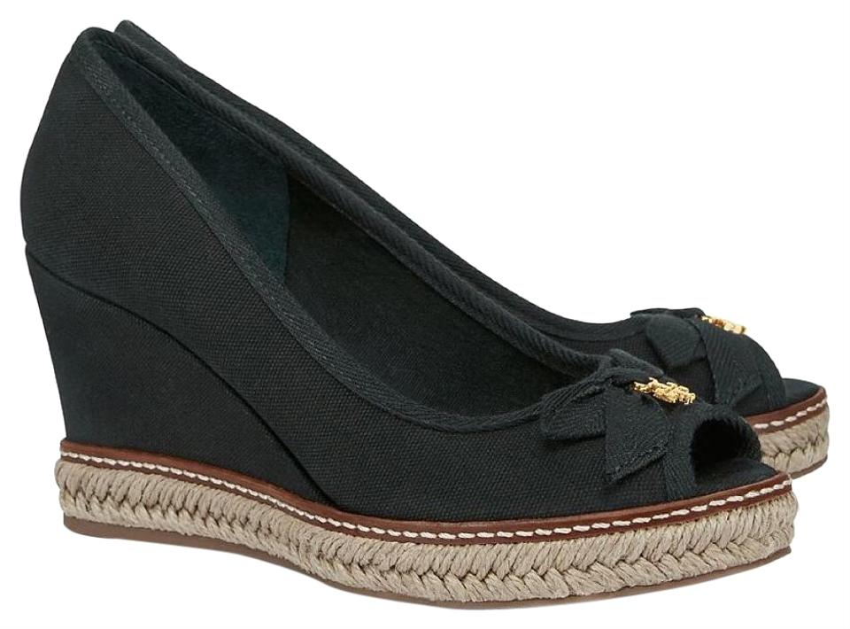 0dab7e04783 Tory Burch Black Jackie Wedges Size US 9.5 Regular (M