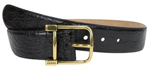 Gucci New Gucci Women Black Belt w/Gold Buckle Size 90/36 257319 E7I0T 1000