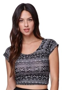 PacSun Crop Crossback Top Black