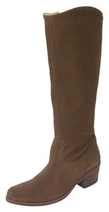 Matisse Burnished Suede Cowboy Knee High Leather Lining Toffee brown Boots