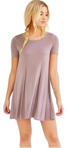 Urban Outfitters short dress Beige Tshirt Taupe Loose on Tradesy