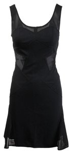 Zac Posen short dress Black Cocktail Mesh on Tradesy