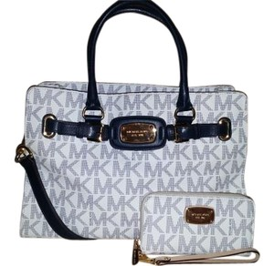 Michael Kors Satchel in White & Navy