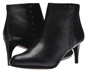 Coach Leather Bootie Hickory Black Boots