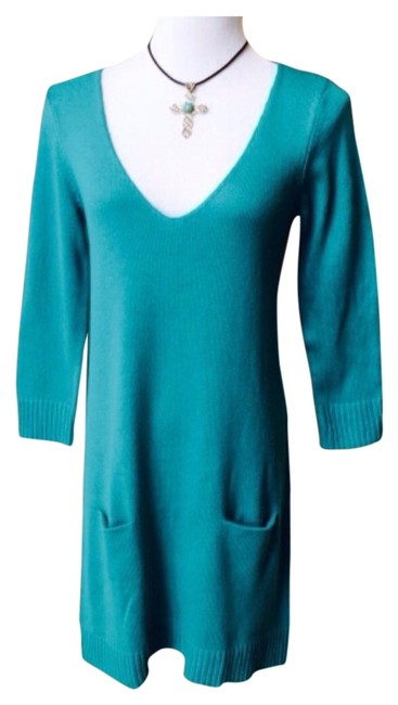 Preload https://item3.tradesy.com/images/express-turquoise-short-casual-dress-size-8-m-1811247-0-0.jpg?width=400&height=650