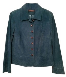 Liz Claiborne Teal Leather Jacket
