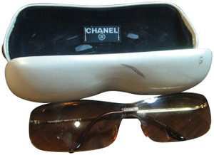 Chanel CHANEL Ladies Gold Frame Sqaure Sunglasses 4043 c.125/89 120 With Case
