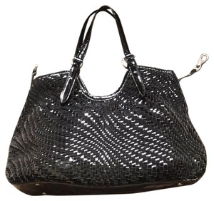 Cole Haan Satchel in Black & Silver