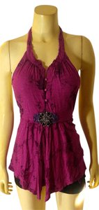 Free People Size Medium P2168 pink Halter Top