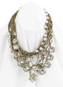 Chloé Chloe 14 2 Ext. Gold Chains Rhinestones Multi Strands Necklace Bj10