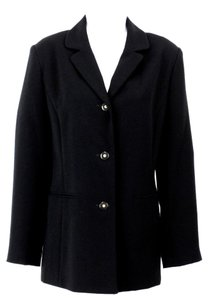 Koret Koret 102d193 Black Three-button Classic Crepe Blazer B114
