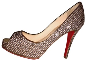 321749896b1 Christian Louboutin Gold/Bronze/Silver Very Prive Yoze Kubrick Pumps Size  EU 38.5 (Approx. US 8.5) Regular (M, B)