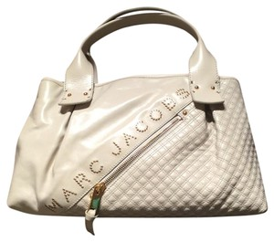 Marc Jacobs Satchel in Cream & Gold