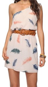 Forever 21 short dress Cream, Navy, Peach on Tradesy