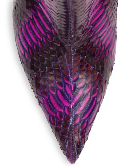 Christian Louboutin So Kate Watersnake Purple, Violet Boots
