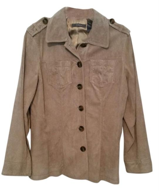 Liz Claiborne Suede Camel Leather Jacket
