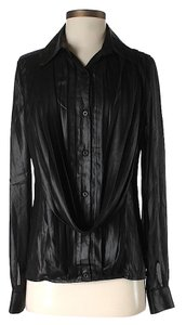 Faith Connexion Draped Top Black