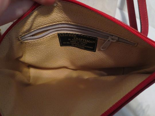 Leather Craftsmen Rome Italy Convertible Cross Body Bag Image 2