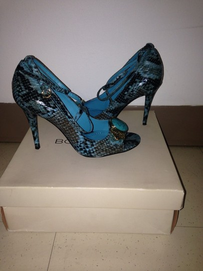 SOLD BCBGeneration Turquoise & Black Pumps Image 1