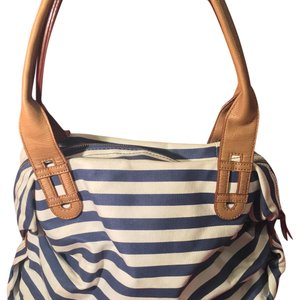 Stella & Dot Satchel in White Blue