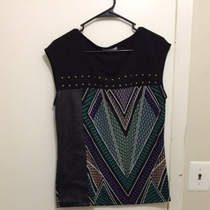 Calvin Klein Top Pattern And Black