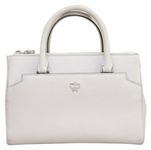 MCM Miumiu Leather Satchel in grey