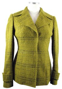 Anne Klein New York Boucle Green Gold Blazer