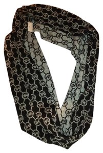 Michael Kors New MK Michael kors black gray logo scarf