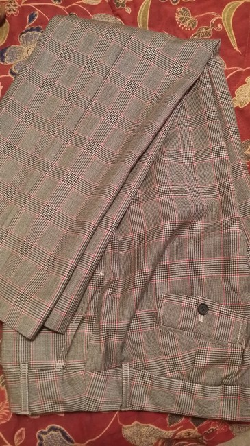 J.Crew Trouser Pants Plaid-Black/Red/White Image 2