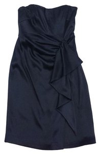 Nicole Miller short dress Black Silk Bow Front on Tradesy