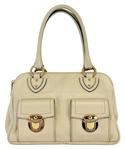 Marc Jacobs Cream Leather Multi Sectional Hobo Bag