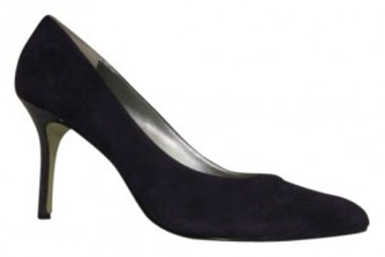 Enzo Angiolini Suede Patchwork Office Formal Purple Pumps