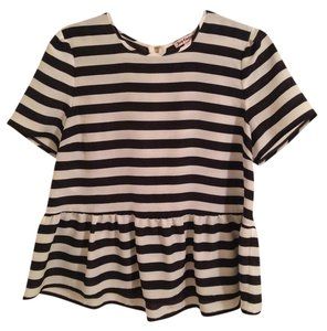 Juicy Couture Top Black and white stripe