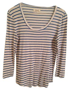 Madewell T Shirt Blue and white stripe