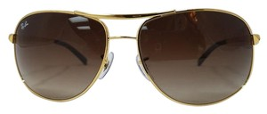 Ray-Ban Stunning Gold Aviator Ray-Ban Sunglasses RB 3387 001/13 64