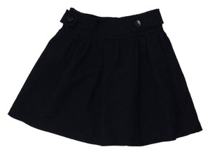 Jill Stuart Black Wool Mini Mini Mini Skirt
