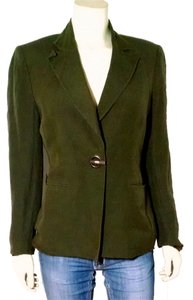 Kasper Dress Jacket Size 6 Olive Green Blazer
