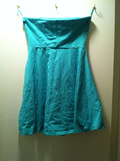 Express short dress Teal Designer Green Blue Mini Cocktail Night Out Cotton Short on Tradesy