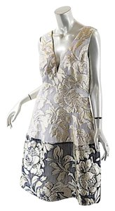 Lela Rose Organza Silk Brocade Dress