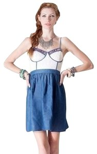 Flying Tomato short dress Denim Mix Aztec Bustier Eyelet on Tradesy