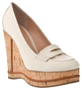 cd5caa3478a8 Chloé Ivory White Penny Loafers Wedges.  126.65  595.00. EU 38.5 (Approx. US  8.5). Sold Out. Chloé Ivory Wedges