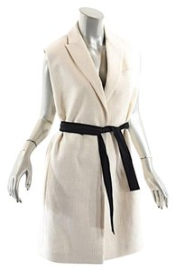 Brunello Cucinelli short dress Beige Coat Vest Tunic Cotton on Tradesy