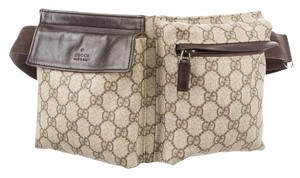 Gucci Hardware Gg Beige, Brown, Silver Messenger Bag