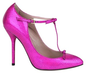 Gucci Crackled Metallic Leather Fuchsia/5600 Pumps