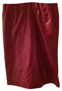 Vintage Charles Jourdan Skirt Deep Red