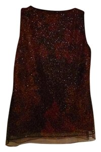 Elie Tahari Sequined Blouse Silk Top Burgundy, Autumn tones