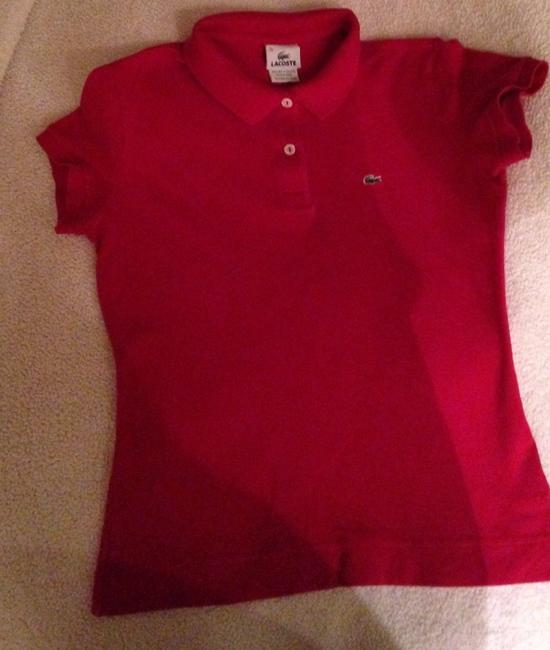 Lacoste T Shirt Red Image 2
