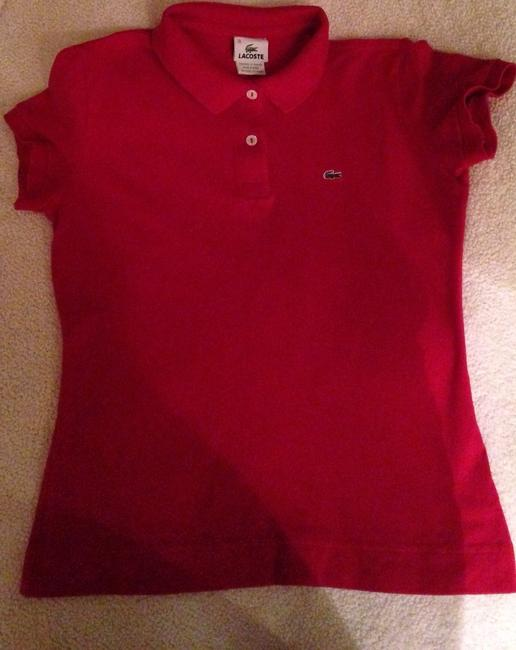 Lacoste T Shirt Red Image 3